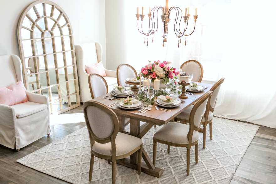 French Country Dining Room Makeover with Joss & Main