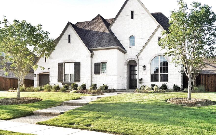white brick acme farmhouse home tour