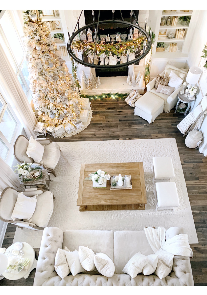 Christmas Home Tour 2018 Modern Farmhouse Glam With Silver
