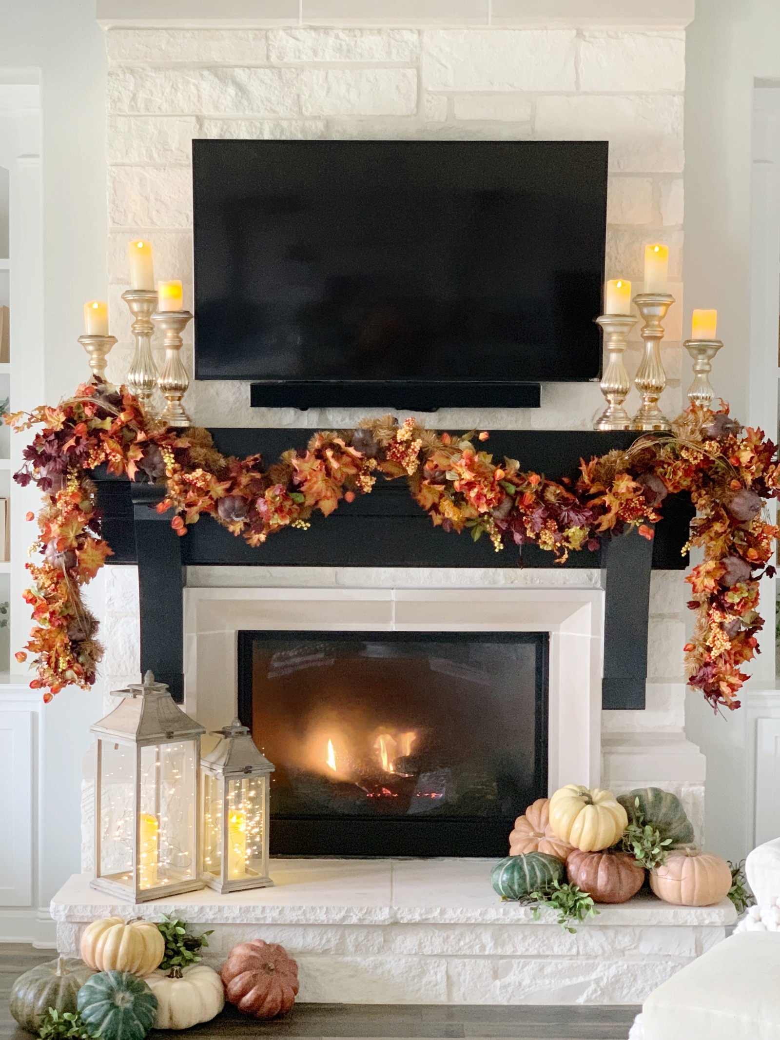 Mantel Decorating Inspiration From Fall Through Christmas My Texas House